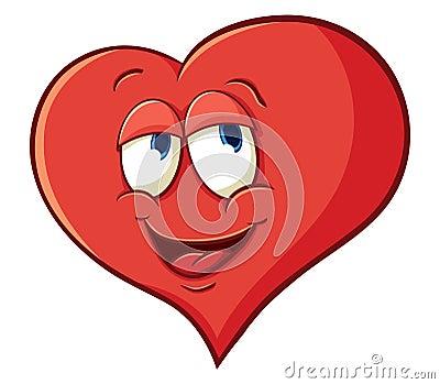 与简单的梯度的例证与动画片心脏的图象.图片
