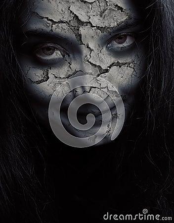 破裂的邪恶的表面