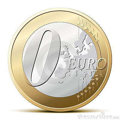 Free 0 Euro Coin Stock Photography - 14599582