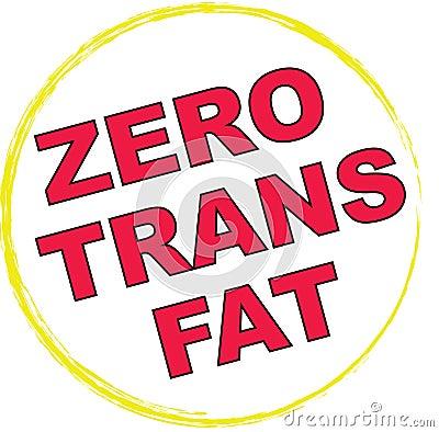 0 Trans Fat Symbol