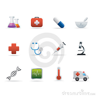 02 Medicine and Healt Care Icons Editorial Stock Photo