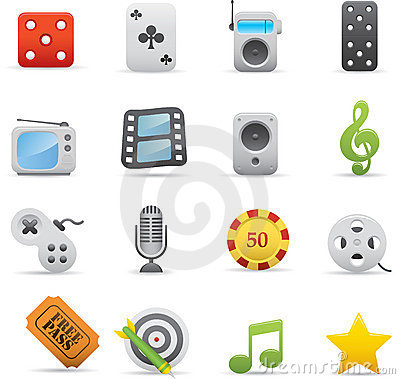 Free 03 Entertainment Icons Royalty Free Stock Image - 16904906