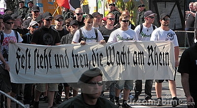 03 Sept 11 Neo-Nazi Demo in Dortmund Germany- Editorial Image