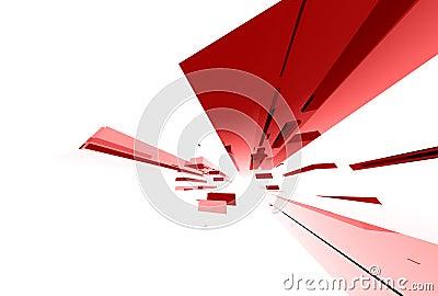 030 abstrakcjonistycznych elementów szklanych