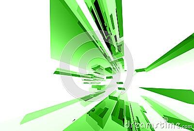 035 abstrakcjonistycznych elementów szklanych
