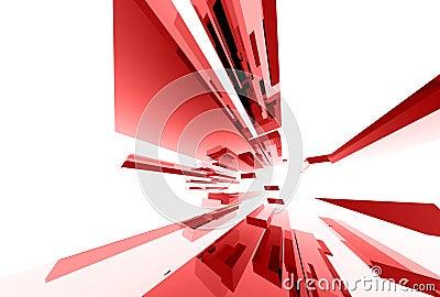 036 glass abstrakt element