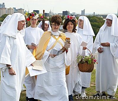 039 Druids-Primrose Hill-Autumn Equinox 22 Sep 09 Editorial Image