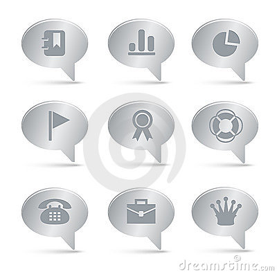 04 Silver Bubbles Office Icons