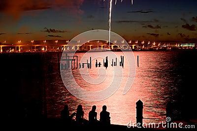 07-04-06 Stuart, fogos-de-artifício do FL (25)