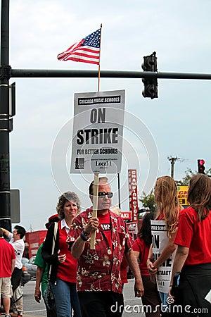 0n strike Editorial Stock Photo