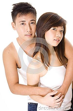 1对亚洲夫妇