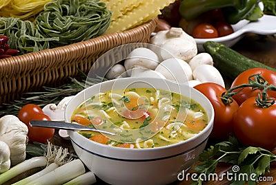 1 świeżej zupy
