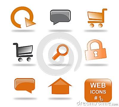 1 вебсайт части иконы установленный