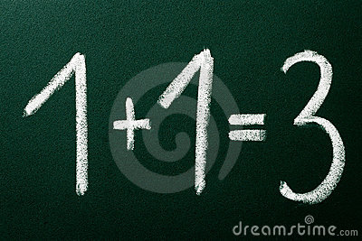 1+1=3 as mathematical calculations