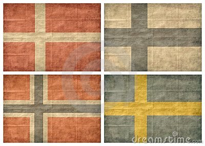 1/2 Nordic countries flags