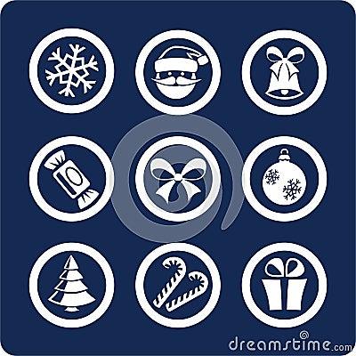 1 Χριστουγέννων καθορισμένο έτος μερών εικονιδίων νέο