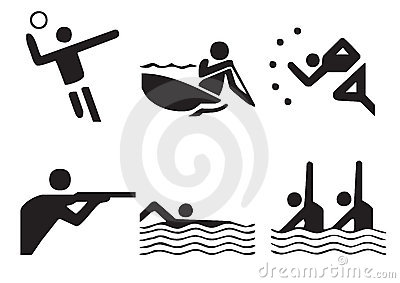 1 διάνυσμα αθλητικών συμβόλων
