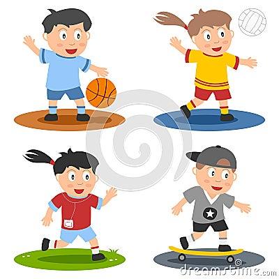 (1) kolekci dzieciaków sport