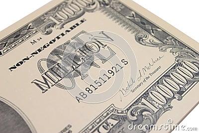 1 milhão notas de banco do dólar