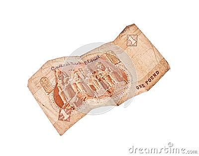 1 pound bill of Egypt