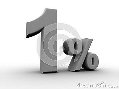 1 pour cent