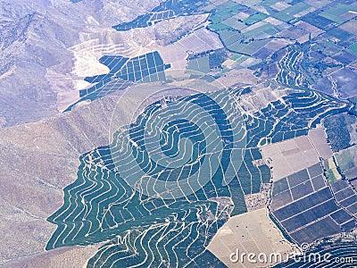 (1) powietrzne rolnictwa krajobrazu serie