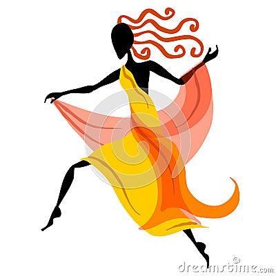 1 rysunek kobiecej tancerzem.