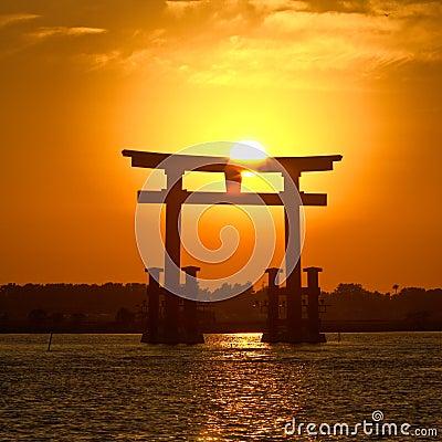 1 samlingsjapan solnedgång