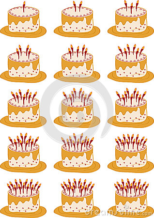 1 To 15 Happy Birthday Cakes Stock Photos - Image: 27907353