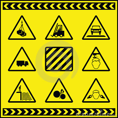 1 varna för faratecken