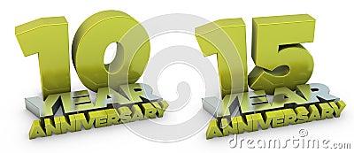 10 and 15 year anniversary