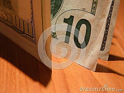10 des Dollarscheins ($100 im Farbton)