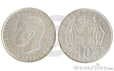 10 drachmai - Greek money