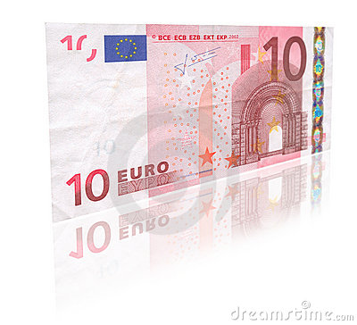 Free 10 Euro With Reflection Royalty Free Stock Images - 3078409