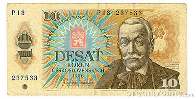 10 koruna bill of Czechoslovakia, 1986