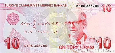 10 Lira banknote back