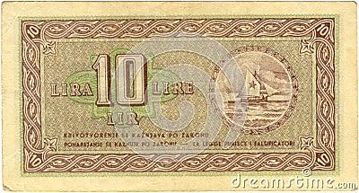 10 lira bill