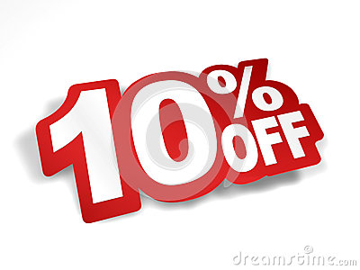 10 percent off discount royalty free stock photos image