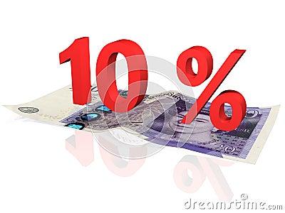 10   percentage