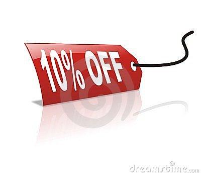 10 persentage off discount