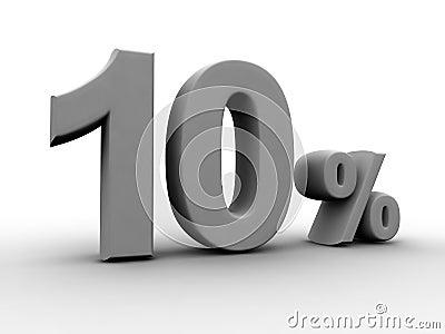 10 pour cent