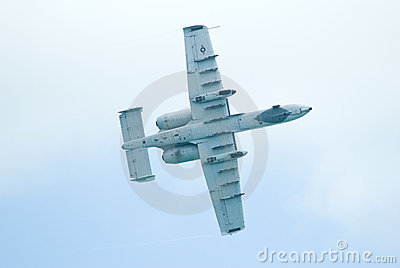 A-10 Thunderbolt II at Singapore Airshow 2010 Editorial Photo