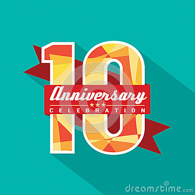 Free 10 Years Anniversary Celebration Design Stock Photo - 40845990