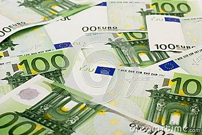 100张钞票欧元