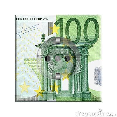 100欧元钞票图片