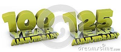 100 and 125 year anniversary