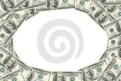 доллары обрамляют 100 сделали