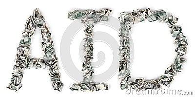 援助-起皱的100$票据