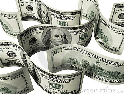 $100 banknotes background