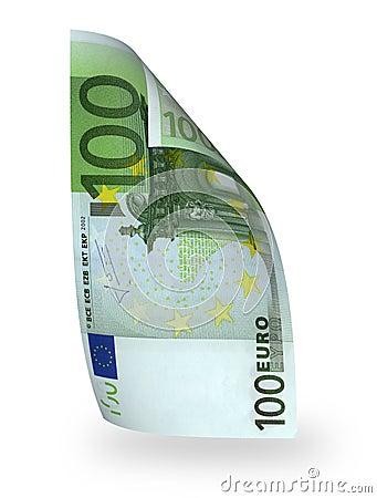 100 banknotów euro